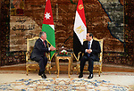 Egyptian President Abdel Fattah al-Sisi meets with Jordanian King Abdullah II in Cairo, Egypt, 24 March 2019. Photo by Egyptian President Office