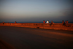 ©2008 David Burnett / Contact Press Images..July 9 2008..Havana, Cuba.The Malecon at sunset