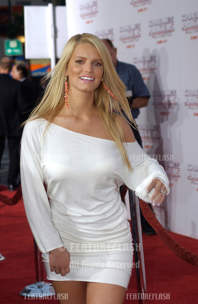 Singer JESSICA SIMPSON at the Hollywood premiere of Charlie's Angels: Full Throttle..June 18, 2003.