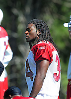 Jul 30, 2008; Flagstaff, AZ, USA; Arizona Cardinals running back Tim Hightower during training camp on the campus of Northern Arizona University. Mandatory Credit: Mark J. Rebilas-