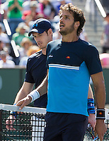 ANDY MURRAY (GBR), FELICIANO LOPEZ (ESP)<br /> <br /> Tennis - BNP PARIBAS OPEN 2015 - Indian Wells - ATP 1000 - WTA Premier -  Indian Wells Tennis Garden  - United States of America - 2015<br /> &copy; AMN IMAGES