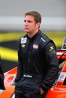 Oct. 3, 2009; Kansas City, KS, USA; NASCAR Nationwide Series driver Chase Miller during qualifying for the Kansas Lottery 300 at Kansas Speedway. Mandatory Credit: Mark J. Rebilas-