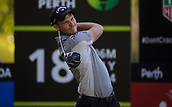 9th February 2018, Lake Karrinyup Country Club, Karrinyup, Australia; ISPS HANDA World Super 6 Perth golf, second round; Danny Willett (ENG)  tees off at hole 18