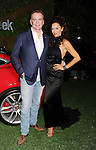 WEST HOLLYWOOD, CA- MAY 02: Actress Sofia Milos (R) and designer Christopher Guy attend the Jaguar North America and BritWeek present a Villainous Affair held at The London on May 2, 2014 in West Hollywood, California.