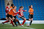 Katie Wilkinson of Sheffield Utd scores the third goal during the The FA Women's Championship match at the Proact Stadium, Chesterfield. Picture date: 8th December 2019. Picture credit should read: Simon Bellis/Sportimage