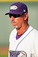 Winston-Salem Dash pitching coach Bobby Thigpen #37 prior to the game against the Kinston Indians at BB&T Ballpark on June 4, 2011 in Winston-Salem, North Carolina.   Photo by Brian Westerholt / Four Seam Images