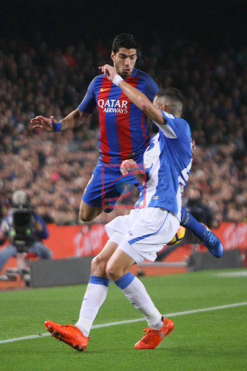 League Santander 2016/2017. Game: 23.<br /> FC Barcelona vs CD Leganes SAD: 2-1.<br /> Luis Suarez vs Siovas.