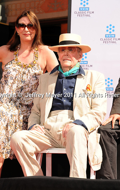 HOLLYWOOD, CA - APRIL 30: Kate O'Toole and Peter O'Toole attend the TCM Classic Film Festival honors Actor Peter O'Toole with hand and foot ceremony held at Grauman's Chinese Theatre on April 30, 2011 in Hollywood, California.