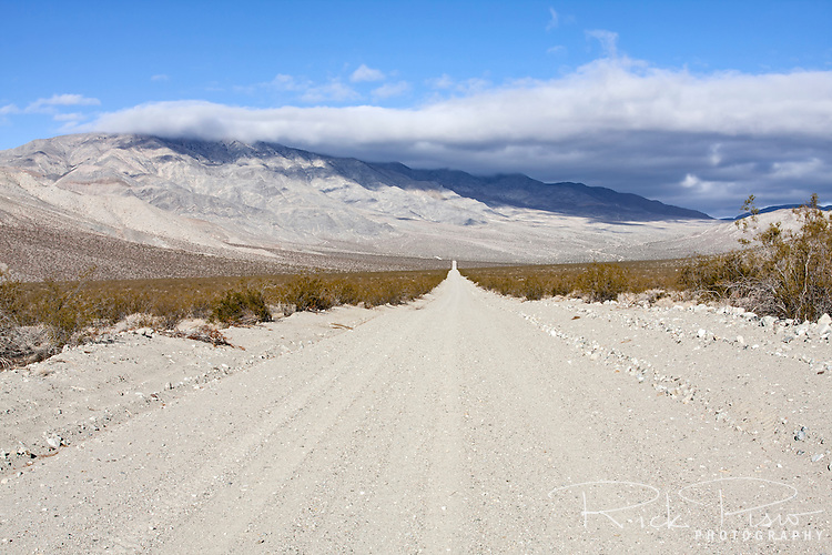 Death Valley Road in the back country of Death Valley National Park