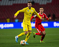 17th November 2019; Stadion Rajko Mitic, Belgrade, Serbia; European Championships 2020 Qualifier, Serbia versus Ukraine; Andriy Yarmolenko of Ukraine  - Editorial Use