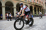 UAE Team Emirates riders head out for a practice run before Stage 1 of the 2019 Giro d'Italia, an individual time trial running 8km from Bologna to the Sanctuary of San Luca, Bologna, Italy. 11th May 2019.<br /> Picture: Eoin Clarke | Cyclefile<br /> <br /> All photos usage must carry mandatory copyright credit (© Cyclefile | Eoin Clarke)