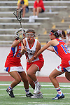 Redondo Beach, CA 05/14/11 - Julia Denney (Redondo Union #11), Devynn Turk (Los Alamitos #2) and Meghan Cassedy (Los Alamitos #10)in action during the 2011 US Lacrosse / CIF Southern Section Division 1 Girls Varsity Lacrosse Championship, Los Alamitos defeated Redondo Union 17-5.