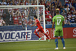 FRISCO, TX - APRIL 12 : FC Dallas vs Seattle Sounders at Toyota Stadium on April 12, 2014 in Frisco, Texas. (Photo by Rick Yeatts