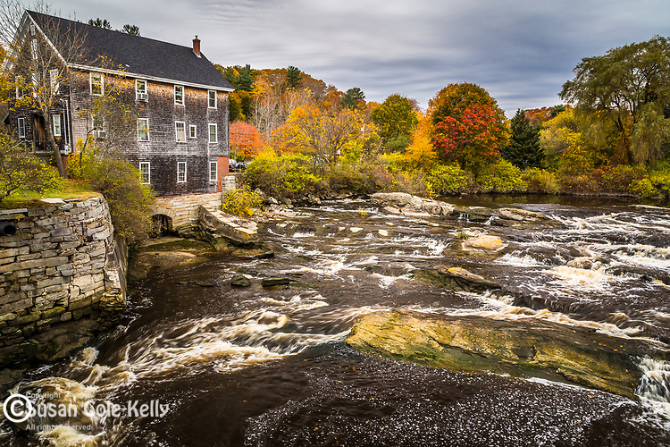 Grist Mill Park in Yarmouth, Maine, USA