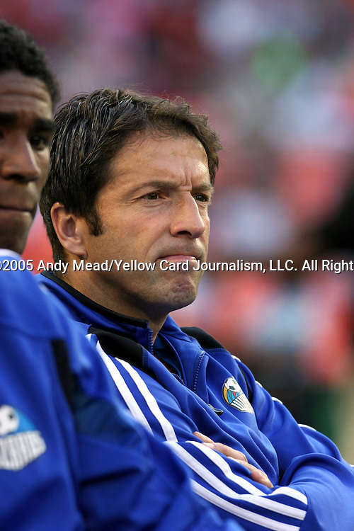 21 May 2005: Preki. DC United defeated the Kansas City Wizards 3-2 at RFK Stadium in Washington, DC in a regular season Major League Soccer game. . .