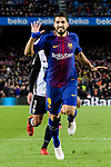 Luis Suarez of FC Barcelona gestures during the Copa Del Rey 2017-18 match between FC Barcelona and Valencia CF at Camp Nou Stadium on 01 February 2018 in Barcelona, Spain. Photo by Vicens Gimenez / Power Sport Images