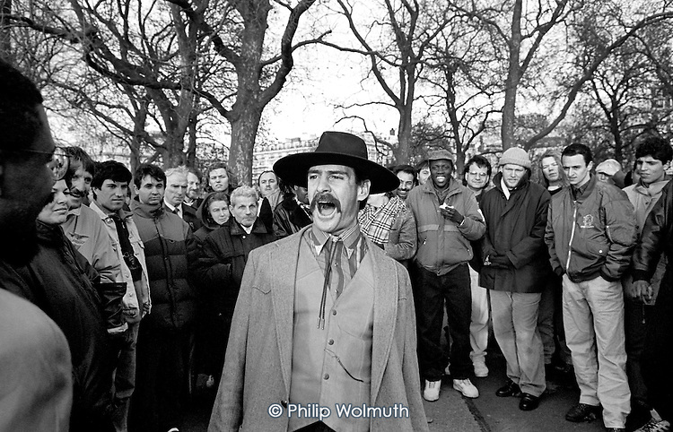 American Christian evangelist, Speakers' Corner, Hyde Park, London