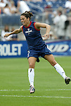1 August 2004: Julie Foudy. The United States defeated China 3-1 at Rentschler Field in East Hartford, CT in an women's international friendly soccer game..