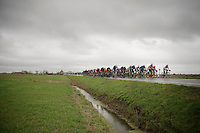 Even before they hit the coast, the peloton was already blown to pieces by  the fierce winds<br /> <br /> 77th Gent-Wevelgem 2015