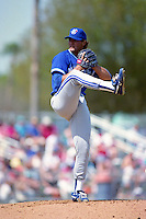 Toronto Blue Jays pitcher Al Leiter during spring training circa 1993 at Chain of Lakes Park in Winter Haven, Florida.  (MJA/Four Seam Images)