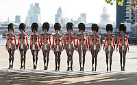 The Crazy Horse girls from Paris, France arrive in London today for the launch of Forever Crazy, which opens at The South Bank ..Picture by GLENN COPUSThe Crazy Horse girls from Paris, arrive in London ,Tuesday, 18th September,  for the launch of their Forever Crazy show at the South Bank in London.   Photo by:i-images/ DyD Fotografos