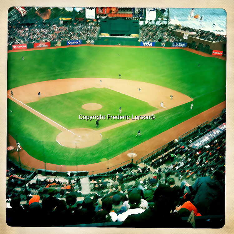 AT&T Baseball Park in San Francisco taken with IPhone Application.