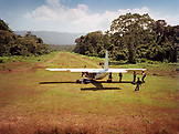 PANAMA, Cana, a runway cut through the Darien Jungle at the Cana Field Station near the Colombian Boarder, Central America