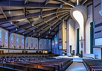 Interior St Margaret Mary Catholic Church, Winter Park, Florida, USA.