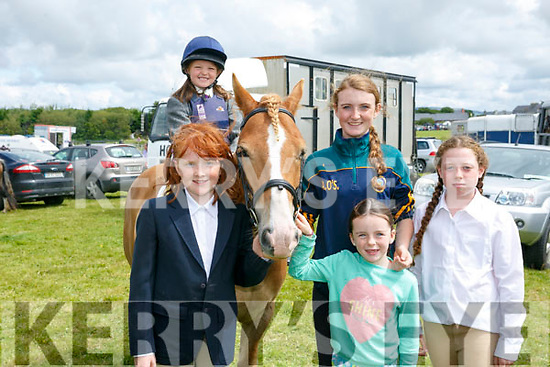 Enjoying the Blennerville Pony Show on Sunday were Laura Nolan, Clodagh Murphy, Amy O'Sullivan, Milly Raggart and sarah deadfreehead with Buster