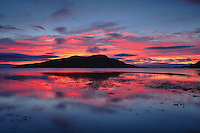 Holy Island at sunrise from Lamlash, Isle of Arran, Ayrshire<br /> <br /> Copyright www.scottishhorizons.co.uk/Keith Fergus 2011 All Rights Reserved