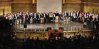 The 2009 Whiffs, and Alumni, everyone all together, close the January 31 Concert: Century on a Spree: The Whiffenpoof Centennial (1909-2009)