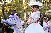 CALIFORNIA-ESTADOS UNIDOS. Parque Disney California Adventure uno de los sitios mas visitados por miles de turistas de todas partes del mundo, todas las tardes el parque presenta un desfile con todas sus estrellas. Photo: VizzorImage.