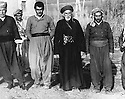 Iraq 1961.In Penjwin, first left, Mohamed Rachid Khan, third left, Reza Sheikh Kerim, 4th, Sheikh Abdel Kader Tchvessa, first right, Sheikh Latif Sheikh Hussein