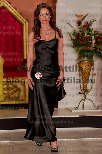 Anita Greta Cserven participates the Miss Hungary beauty contest held in Budapest, Hungary on December 29, 2011. ATTILA VOLGYI