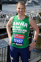 Anna Watkins at the photocall for celebs running the 2014 London Marathon, London. 09/04/2014 Picture by: Steve Vas / Featureflash