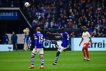 16.03.2019, VELTINS Arena, Gelsenkirchen, Deutschland, GER, 1. FBL, FC Schalke 04 vs. RB Leipzig<br /> <br /> DFL REGULATIONS PROHIBIT ANY USE OF PHOTOGRAPHS AS IMAGE SEQUENCES AND/OR QUASI-VIDEO.<br /> <br /> im Bild Salif Sane (#26 Schalke) schiesst Ball nach Abpfiff weg / enttäuscht / enttaeuscht / traurig <br /> <br /> Foto © nordphoto / Kurth