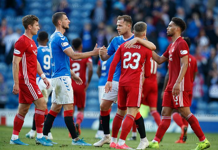 28.09.2018 Rangers v Aberdeen: Greg Stewart at full time