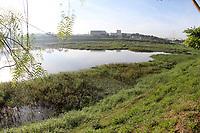 HORTOLANDIA, SP 21.05.2019-AMBIENTE-Aguapés tomam conta de lagoa do Parque Ambiental Remansos das Aguas, Sebastiao Batista Pozza, localizado na cidade de Hortolandia (SP). (Foto: Denny cesare/Codigo19)