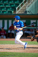Connor Heady (9) of the Ogden Raptors bats against the Idaho Falls Chukars in Pioneer League action at Lindquist Field on July 2, 2017 in Ogden, Utah. Ogden defeated Idaho Falls 6-5. (Stephen Smith/Four Seam Images)