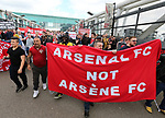 Arsenal's fans protest against Arsene Wenger during the Premier League match at the Emirates Stadium, London. Picture date: April 2nd, 2017. Pic credit should read: David Klein/Sportimage