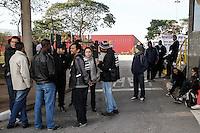 SÃO PAULO,SP,05.06.2014 - GREVE METRO - Movimentação no Patio Itaquera na zona leste funcionarios do Metro estão em greve desde a 0h de hoje (05).(Foto Ale Vianna/Brazil Photo Press).