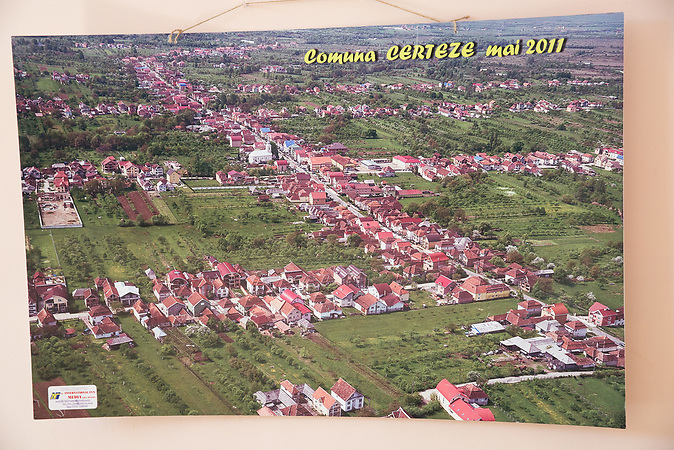 Aerial picture from 2011 of the Certeze village.
