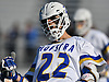 Josh Byrne #22 of Hofstra University reacts after scoring a goal to extend the Pride's lead over visiting Monmouth to 6-2 in the second quarter of an NCAA Division I men's lacrosse game at Shuart Stadium in Hempstead, NY on Saturday, Feb. 18, 2017. He tallied three goals and three assists in Hofstra's 11-9 win.