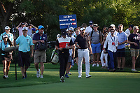 Mike Lorenzo-Vera (FRA) & Rory McIlroy (NIR) during the second round of the DP World Championship, Earth Course, Jumeirah Golf Estates, Dubai, UAE. 22/11/2019<br /> Picture: Golffile | Phil INGLIS<br /> <br /> <br /> All photo usage must carry mandatory copyright credit (© Golffile | Phil INGLIS)