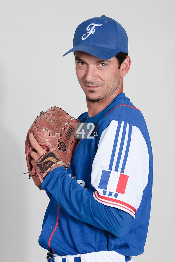 23 july 2010: Samuel Meurant poses prior to the 2010 European Championship Seniors, in Mulhouse, France.