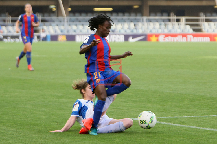 Spanish Women's Football League Iberdrola 2016/17 - Game: 21.<br /> FC Barcelona vs RCD Espanyol: 5-0.<br /> Ange Koko vs Helena.
