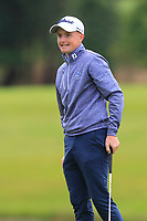 Ronan Mullarney (Galway) on the 18th green during the Final of the AIG Barton Shield in the AIG Cups & Shields Connacht Finals 2019 in Westport Golf Club, Westport, Co. Mayo on Saturday 10th August 2019.<br /> <br /> Picture:  Thos Caffrey / www.golffile.ie<br /> <br /> All photos usage must carry mandatory copyright credit (© Golffile | Thos Caffrey)