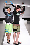 Models walk runway in outfits from the HurleyFall 2015 collection, during the Kids Rock fashion show presented by Haddad Brands, during Mercedes-Benz Fashion Week Fall 2015.