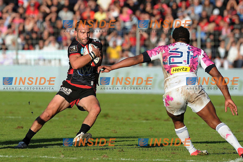 Frederic Michalak (Toulon).Jonathan Danty (Stade Francais) .Parigi 1/11/2012 Saint Denis.RUGBY : Stade Francais vs Toulouse - TOP 14 .Foto Panoramic/Insidefoto.ITALY ONLY