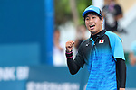 Toshiki Uematsu (JPN), <br /> AUGUST 30, 2018 - Soft Tennis : <br /> Mixed Doubles  Semi-final <br /> at Jakabaring Sport Center Tennis Courts <br /> during the 2018 Jakarta Palembang Asian Games <br /> in Palembang, Indonesia. <br /> (Photo by Yohei Osada/AFLO SPORT)